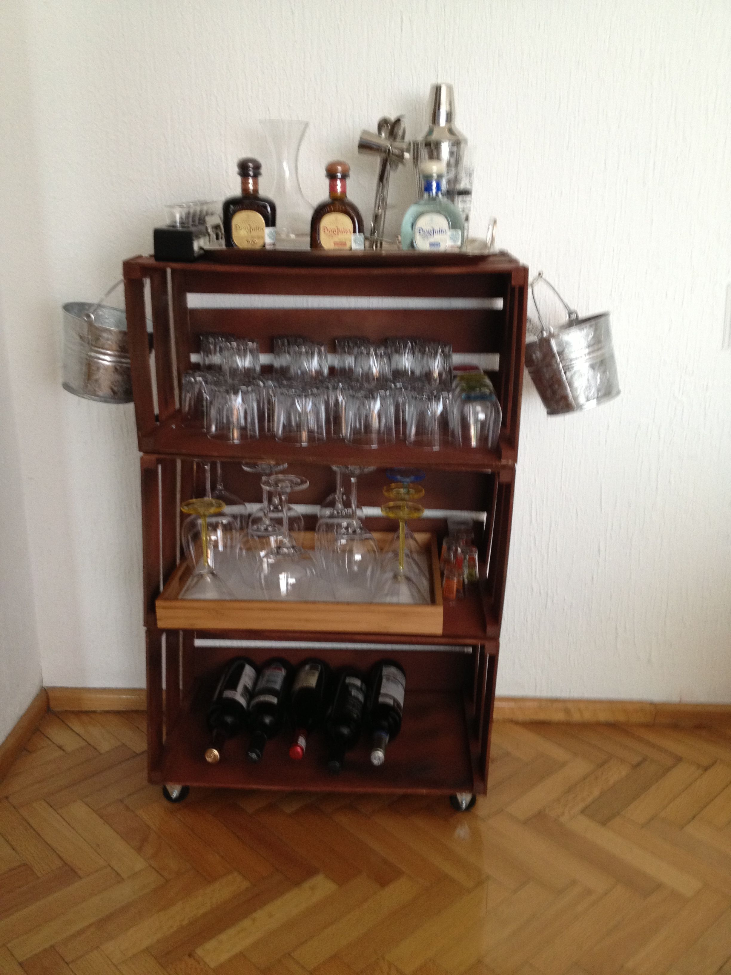 Home made mini bar !! | bar stuff | Pinterest | Flats