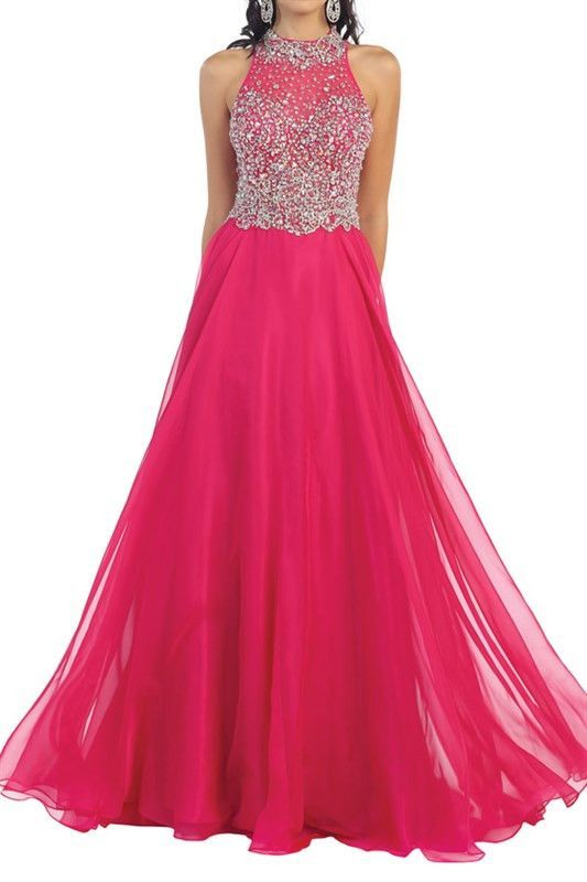 High Neck prom dress with 100-RQ7186 - CLOSEOUT   Neckline, Prom and ...