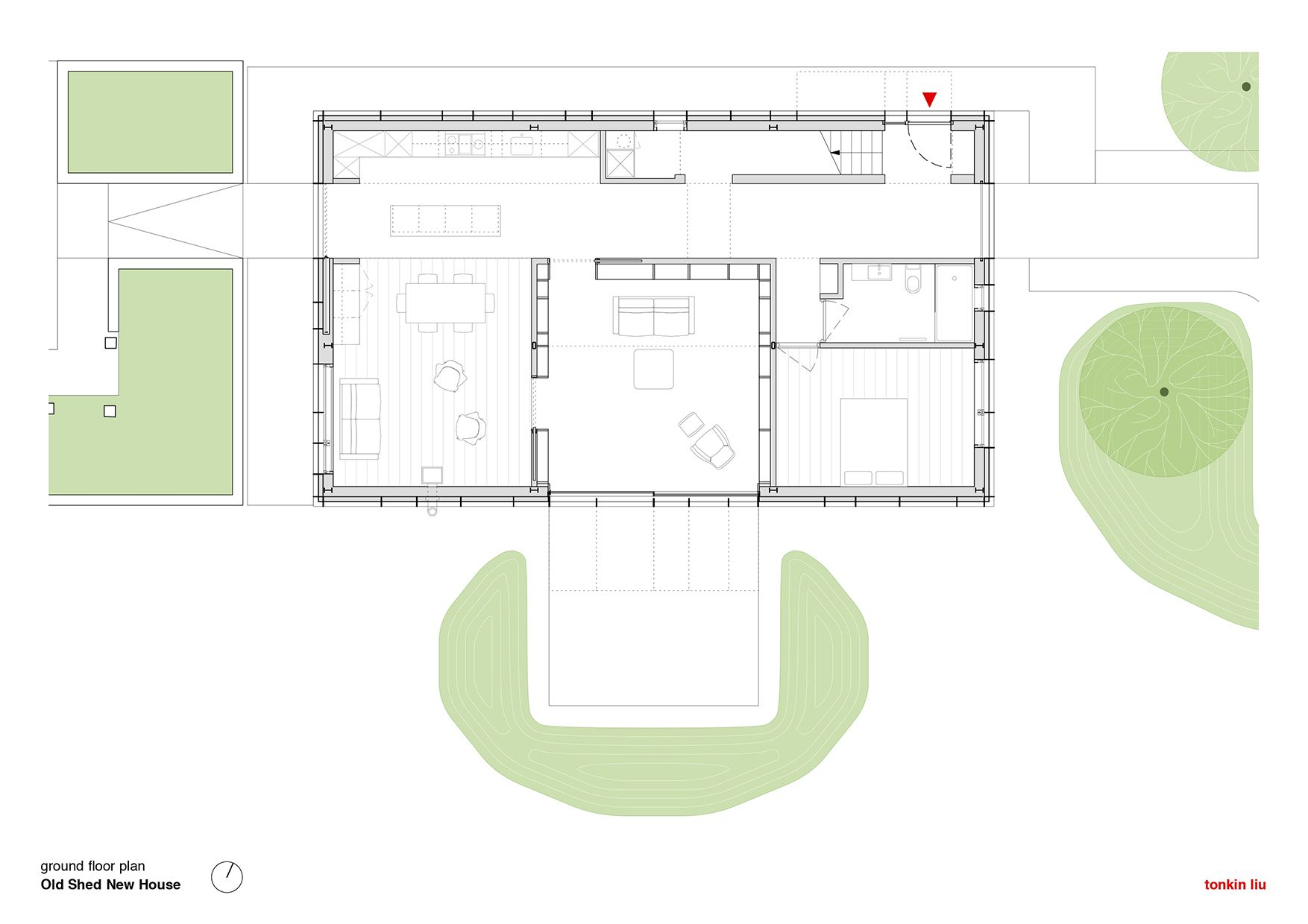 Image 23 Of 26 From Gallery Of Old Shed New House Tonkin Liu Ground Floor Plan 건물 아름다운 인테리어
