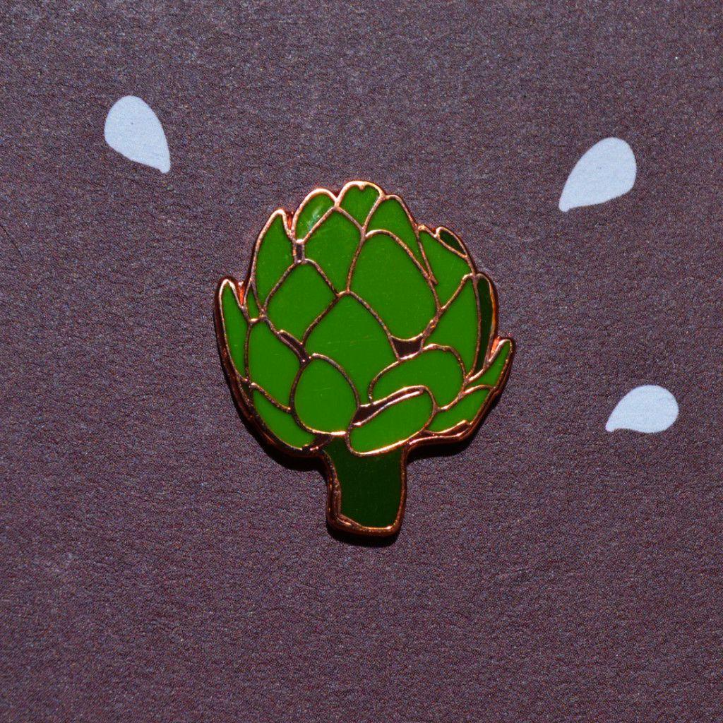 Artichoke Pin by POQUITOwhimsy