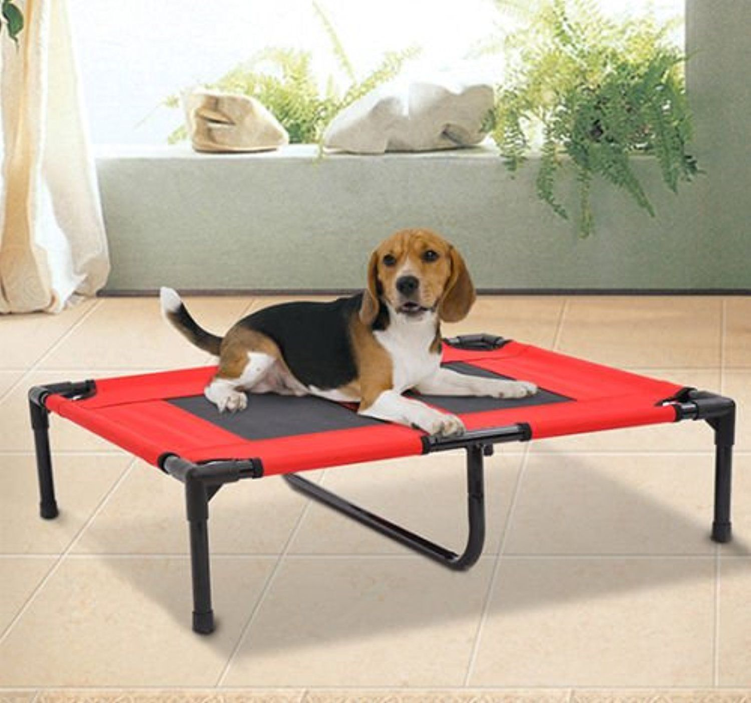 new pawhut indoor outdoor portable dog cat sleep bed elevated