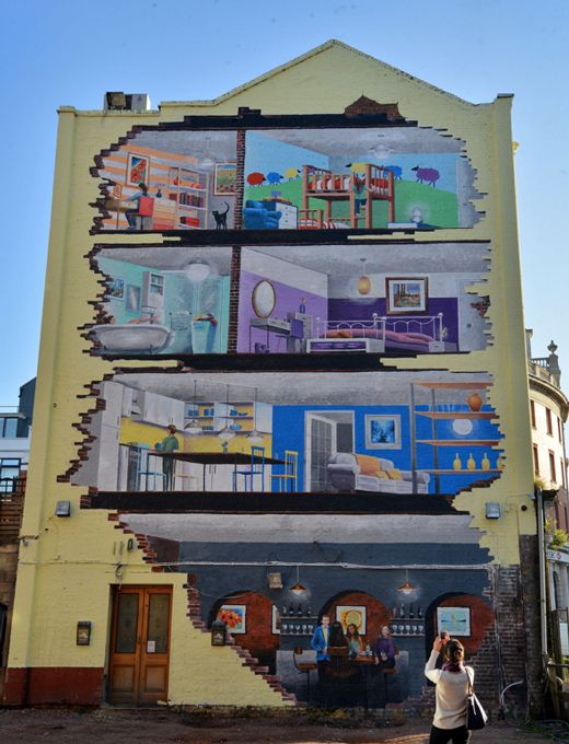 The Making Of Valspar Paints 3d House Wall Greatgraphics