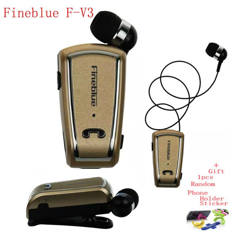 6be002878ac Buy Fineblue F-V3 Bluetooth Headset Mini Wireless Driver Auriculares Stereo Retractable  Clip Audifonos Running