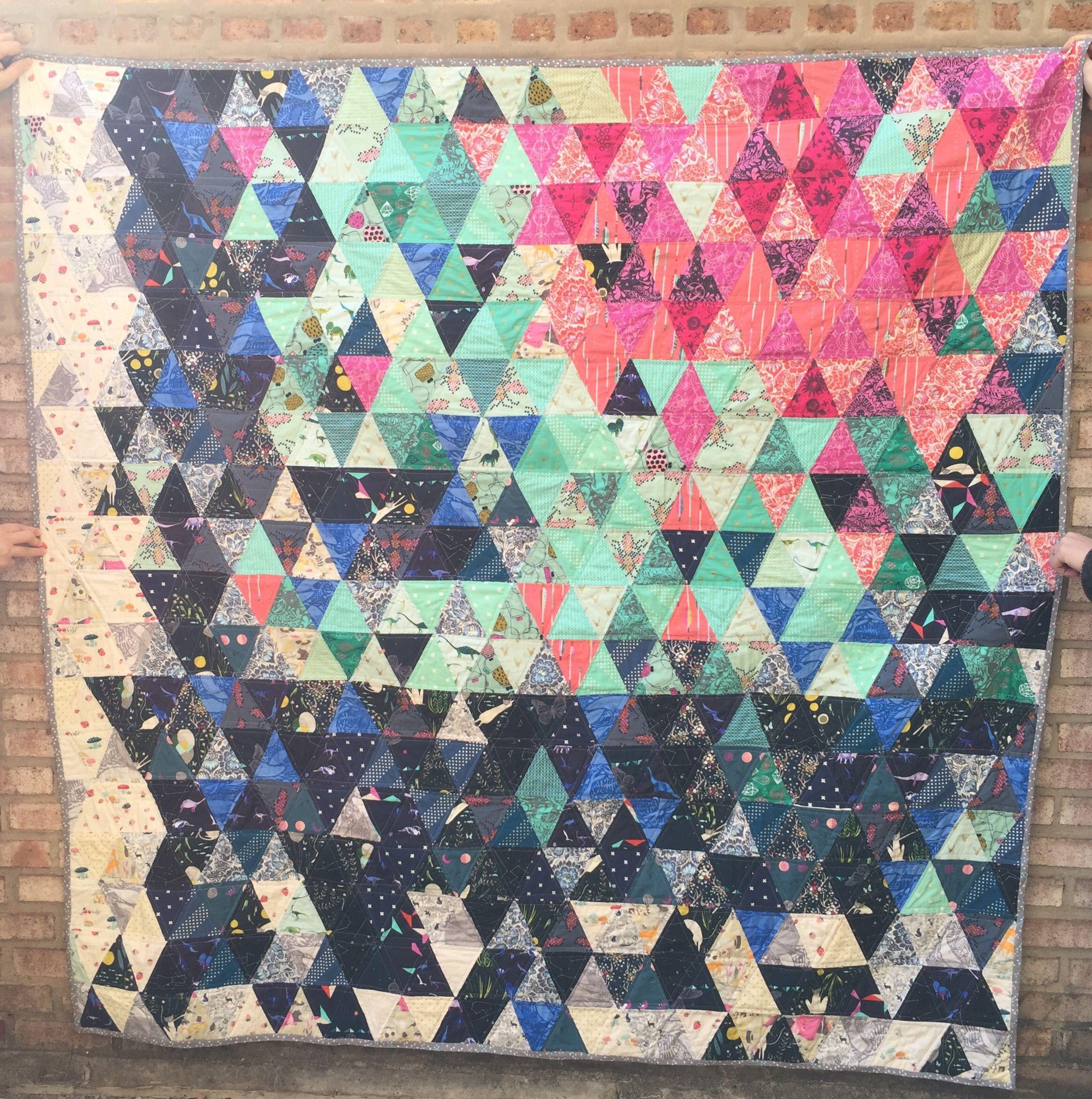 Triangle Quilt - Porcupine Stew