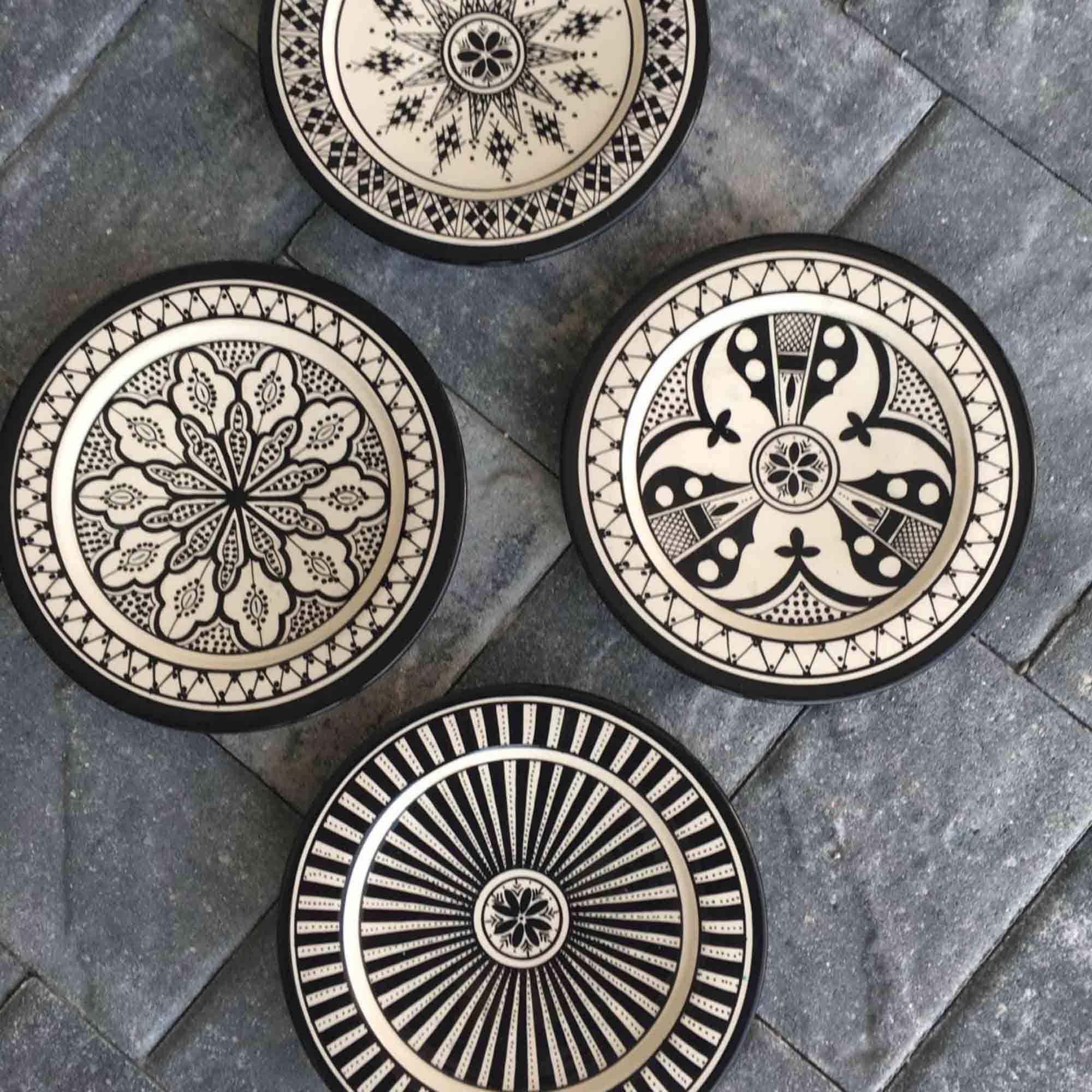 Safi Black Dinner Plates (Set of 4) & Safi Black Dinner Plates (Set of 4) | Black dinner Dinner plate ...
