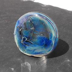 Bag.0985 bague réglable en verre de murano