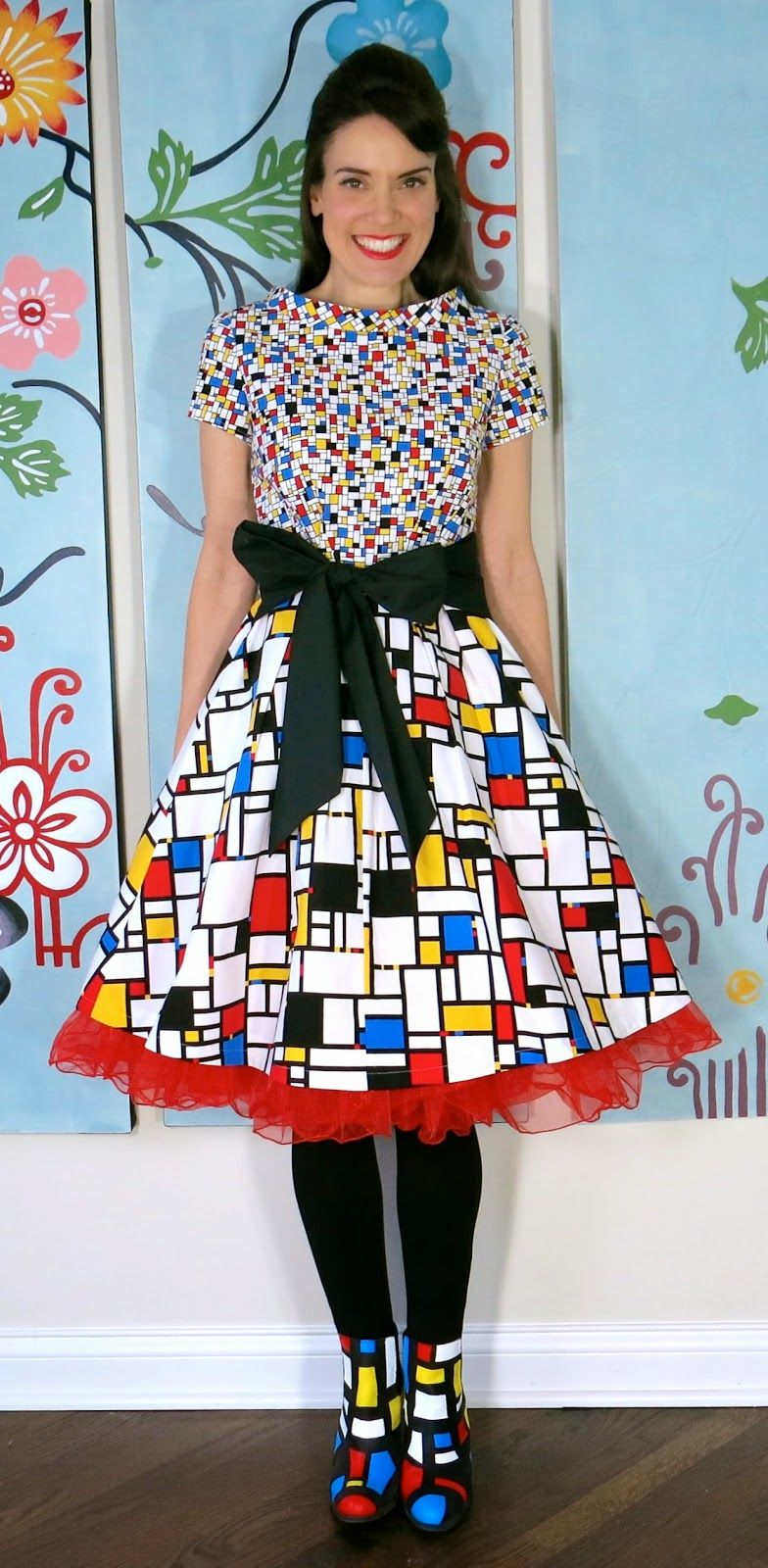 Cassie stephens mondrian dress teacher dresses art dress