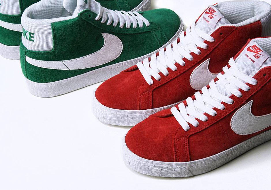 Nike SB Blazer Mid Holiday Colors Available Now | SneakerNews.com