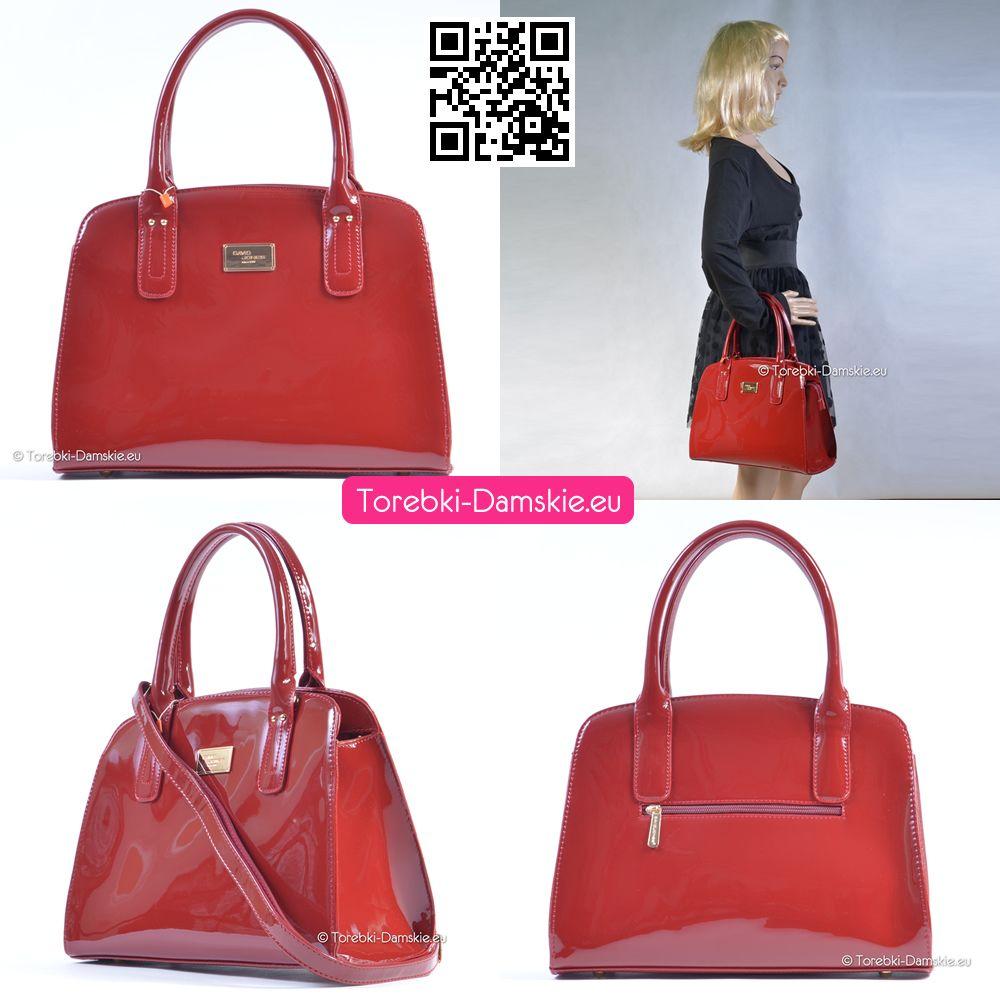 4f30cb1e0fbc4 Nowy model  torebki David Jones w kolorze czerwień   bordo. Lakierowany  gustowny luksusowy kuferek. Klasyczna elegancja nigdy nie wychodząca z mody    ...