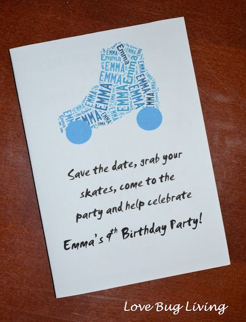 Super Cute invite wording for skate party – Roller Skating Party Invitation Wording