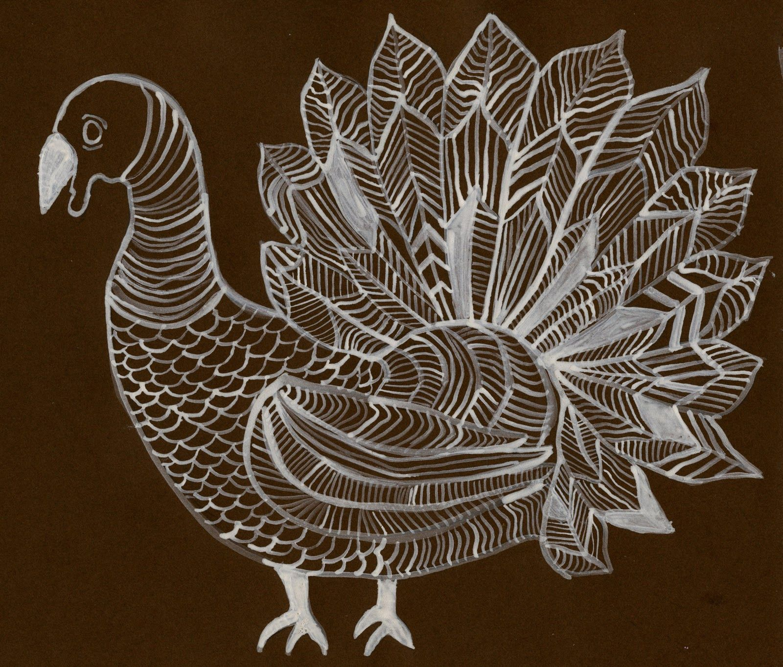 Turkey Line Drawing This Is A Good Project For Grades 4