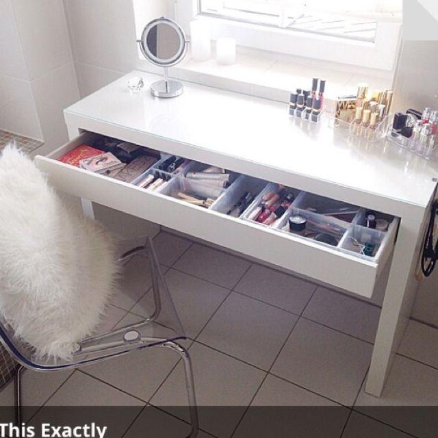 Ikea makeup table Home ideas Pinterest Malm, Bedroom inspo and