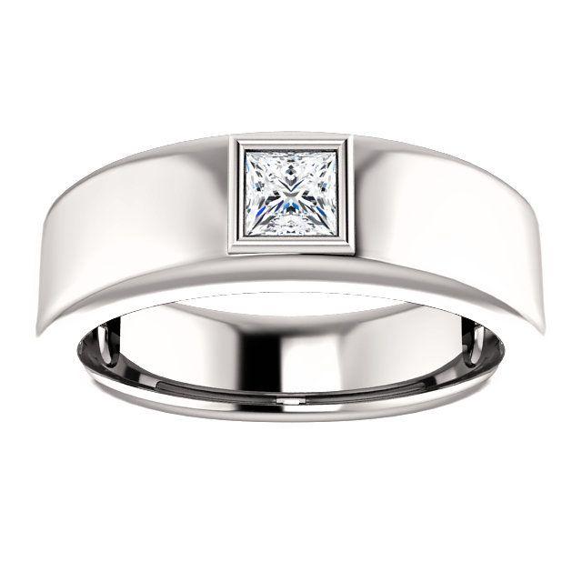 10kt White Gold 4mm Center Diamond Stone Square Shape Men S Ring St9812 263 P P Ladies Diamond Rings Round Diamond Engagement Rings Unique Diamond Rings