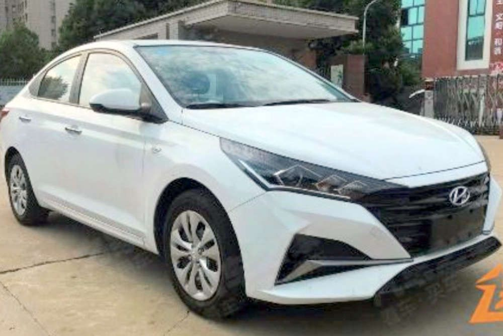 2020 Hyundai Verna Facelift Spotted Testing In China Hyundai Super Cars New Hyundai