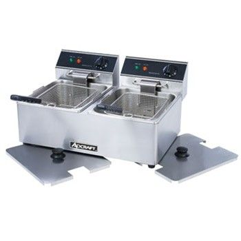 Adcra Ft Electric Countertop Double Tank Deep Fryer Luxury