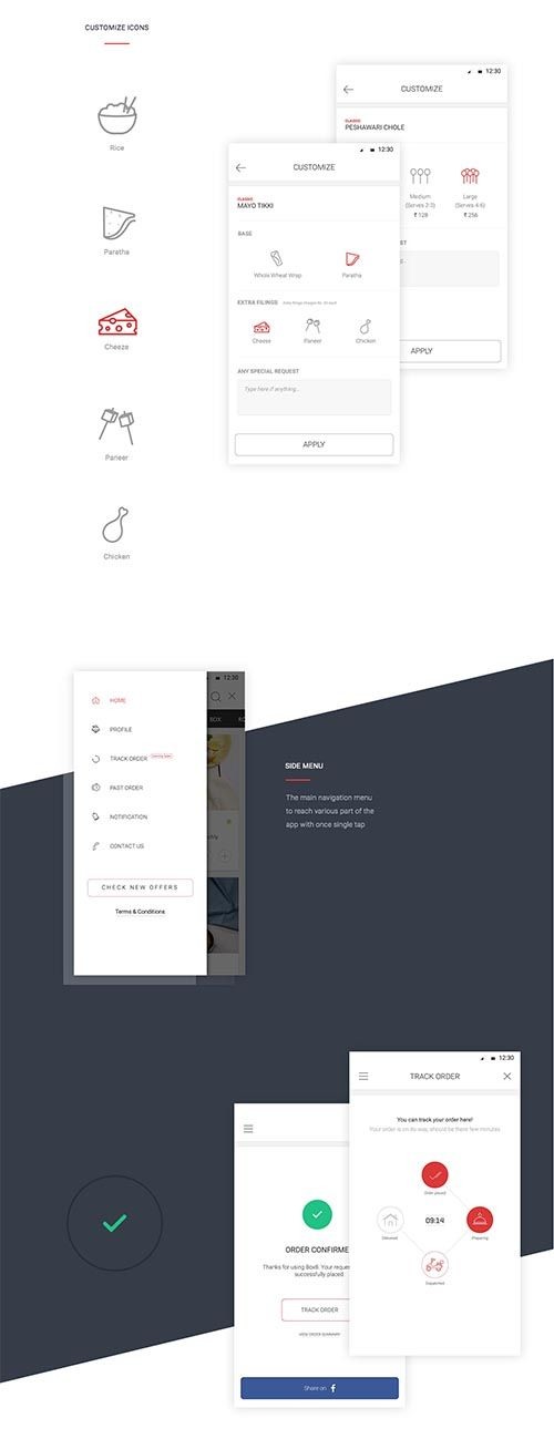 Box8 Food ordering & delivery app UI/Ux Design By