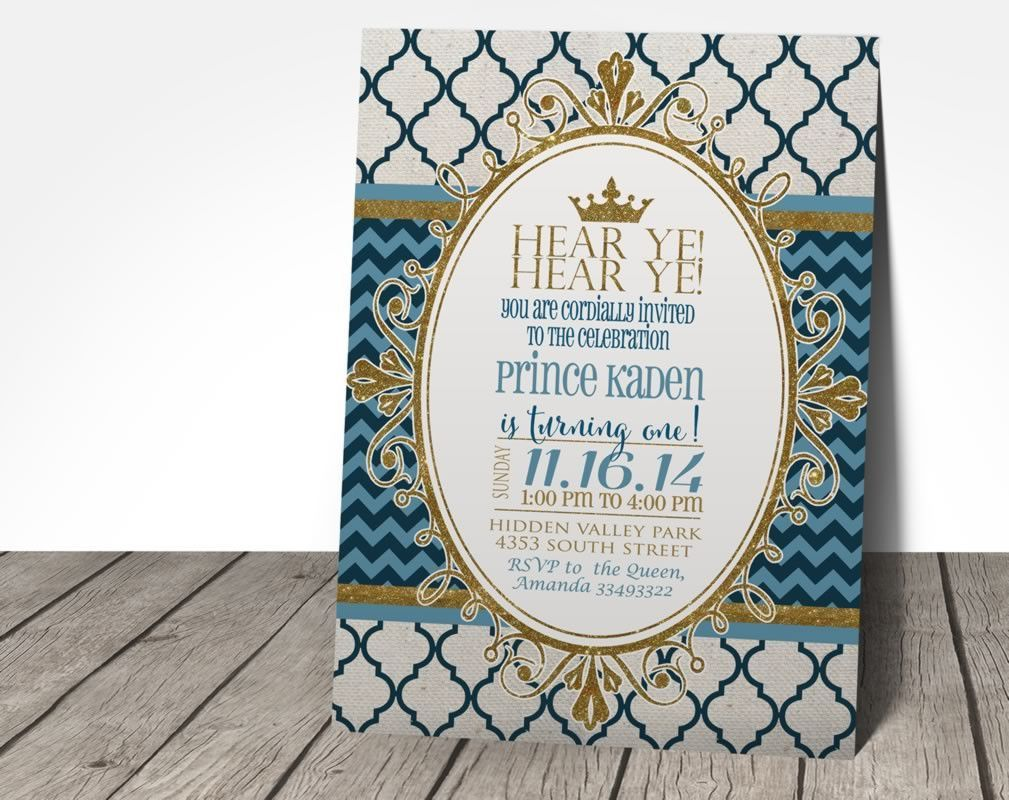 Royal Prince Birthday Party Invitation   Karter   Pinterest   Prince ...