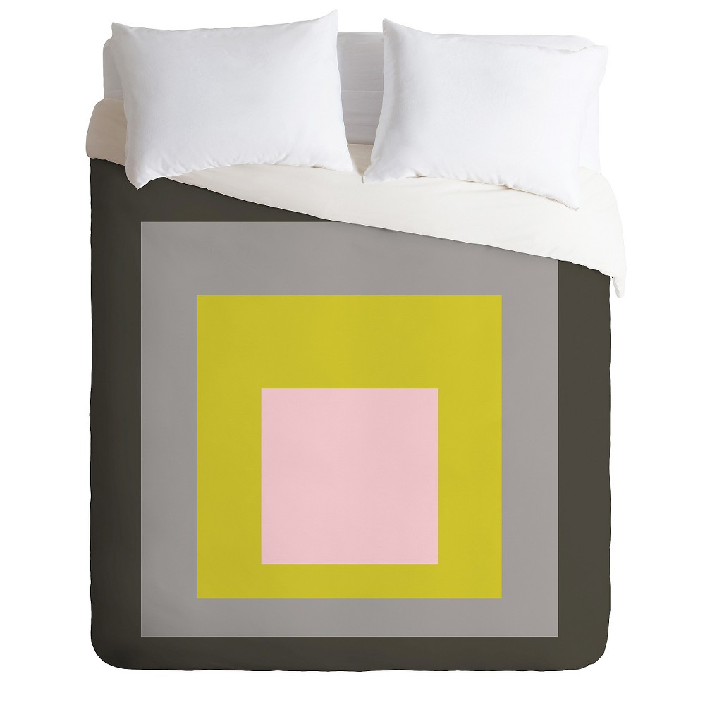 Caroline Okun Flint Lightweight Duvet Cover Queen Lime Deny Designs Lightweight Duvet Covers Duvet Cover Sets Queen Duvet Covers