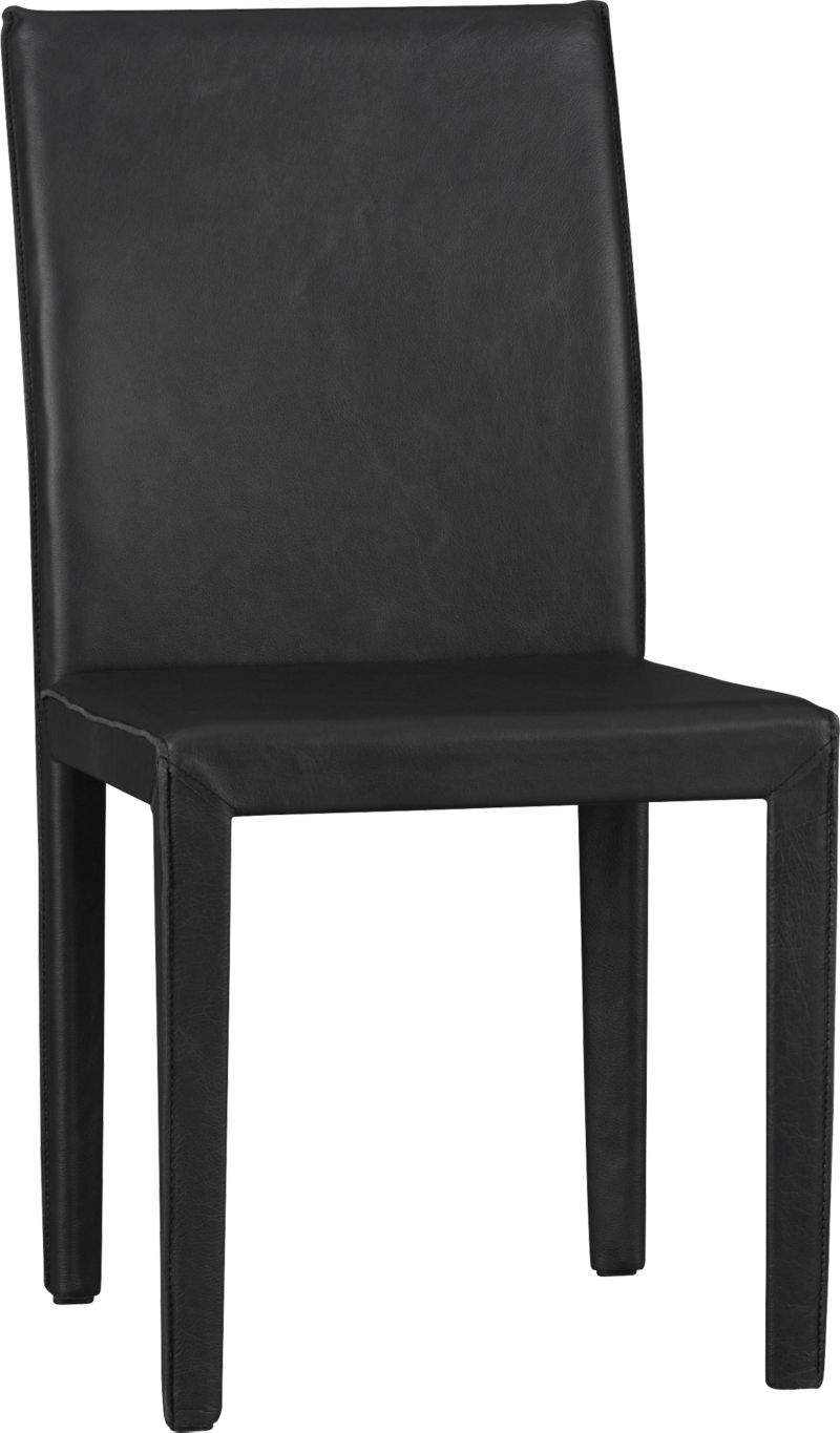 Folio Viola Top Grain Leather Dining Chair Crate And Barrel Leather Side Chair Leather Dining Chairs Leather Dining
