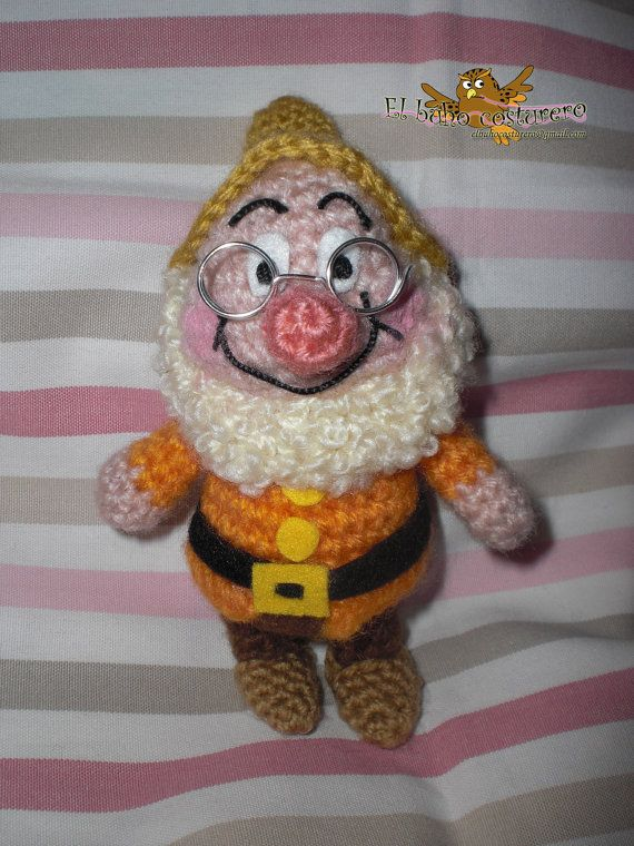Doc amigurumi crochet pattern from seven dwarfs   Sieben zwerge ...