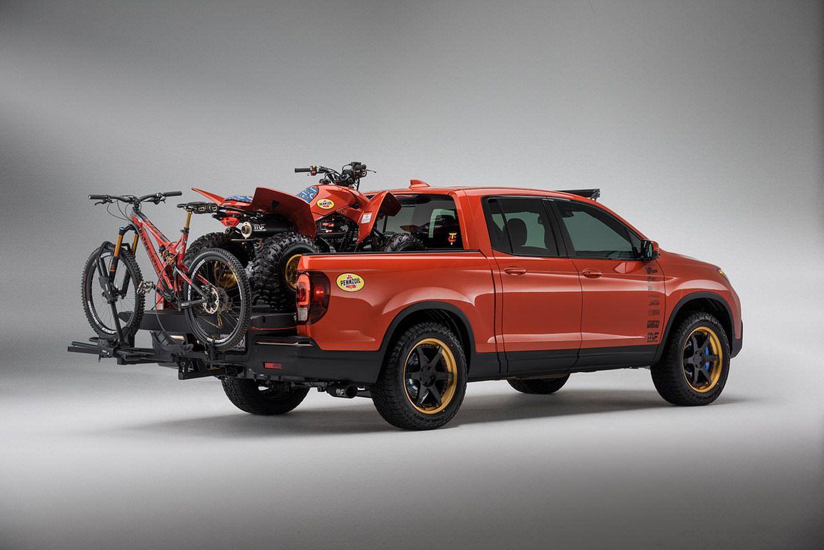 Custom 2017 honda trx250x sport race atv ridgeline truck build sema 2016