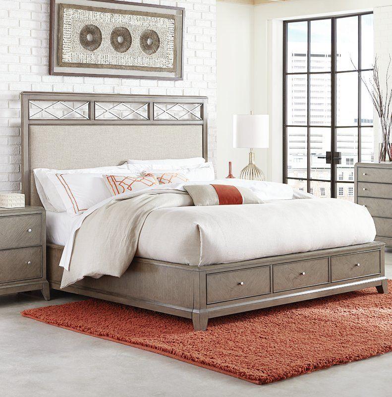 Whicker Upholstered Storage Platform Bed Soveværelse