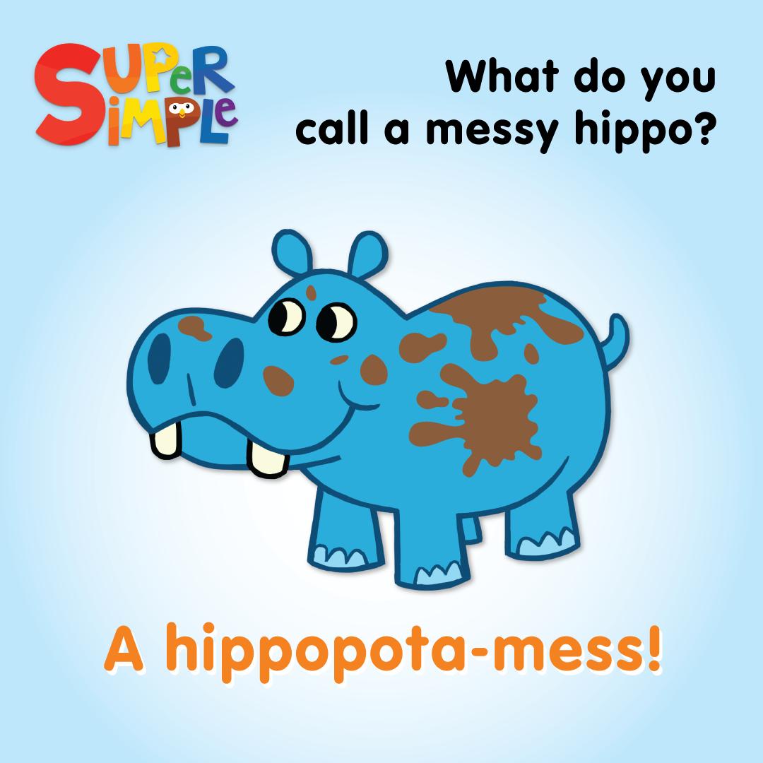 Q What Do You Call A Messy Hippo A A Hippopota Mess