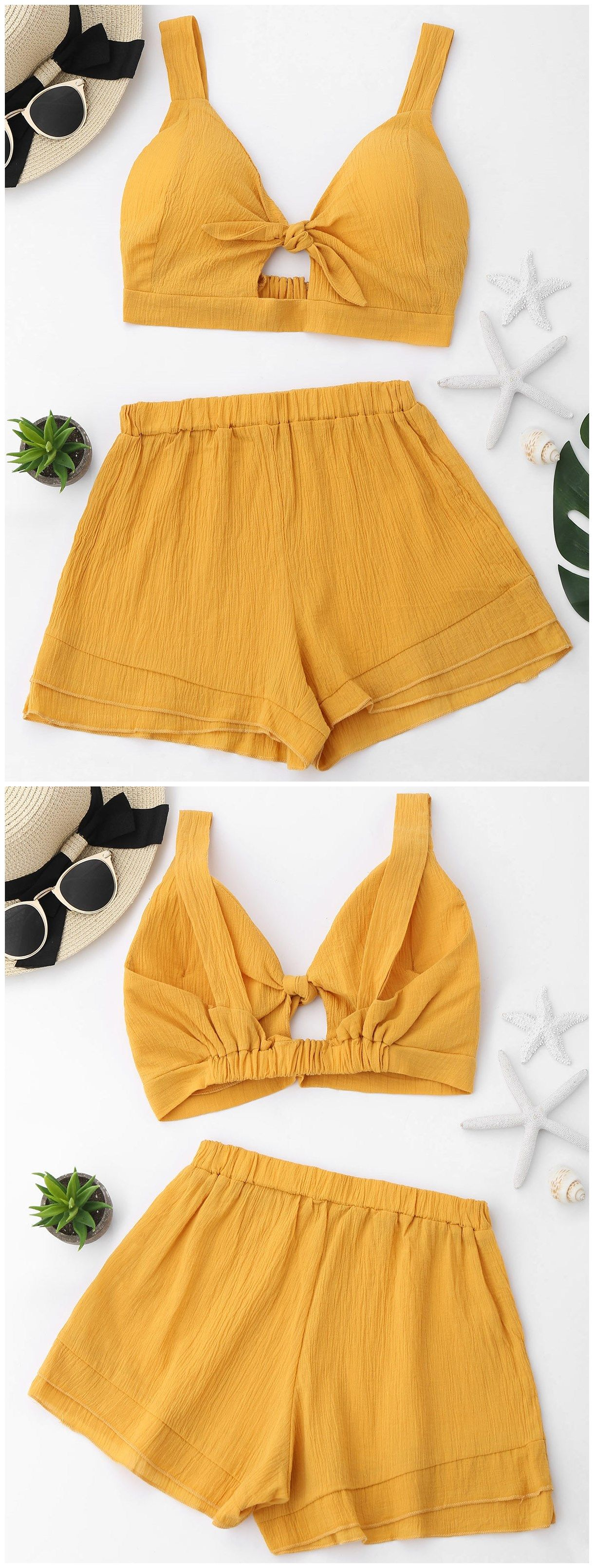 Up to 80% OFF! Cut Out Crop Top And Shorts Set. #Zaful #TwoPieces zaful,zaful outfits,zaful dresses,spring outfits,summer dresses,Valentine's Day,valentines day ideas,valentines outfits,cute,casual,classy,lace,mesh,fashion,style,bottoms,shorts,jumpsuits,rompers,playsuits,playsuit outfit,dressy jumpsuits,playsuits two piece,two piece outfits,two piece dresses,dresses,printed dresses,sundresses,long sleeve dresses,mini dresses,maxi dresses,lace dress @zaful Extra 10% OFF Code:ZF2017