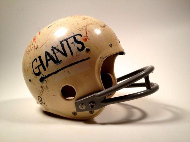 Vintage Giants Football Helmet Football Helmets Vintage Football Helmet Design