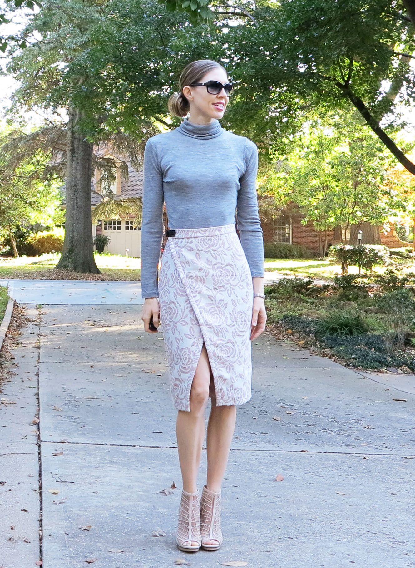 6b869d65903 Wrap skirt drafting using a pencil skirt block More