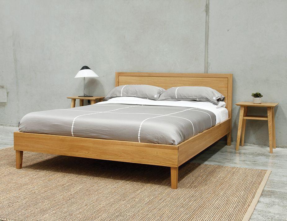 Solid Oak Queen Bed Oak Bed Frame Queen Size Platform Bed Oak Beds