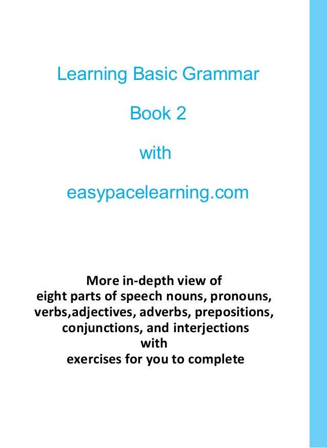 Learning Basic Grammar Book 2 with easypacelearning com More