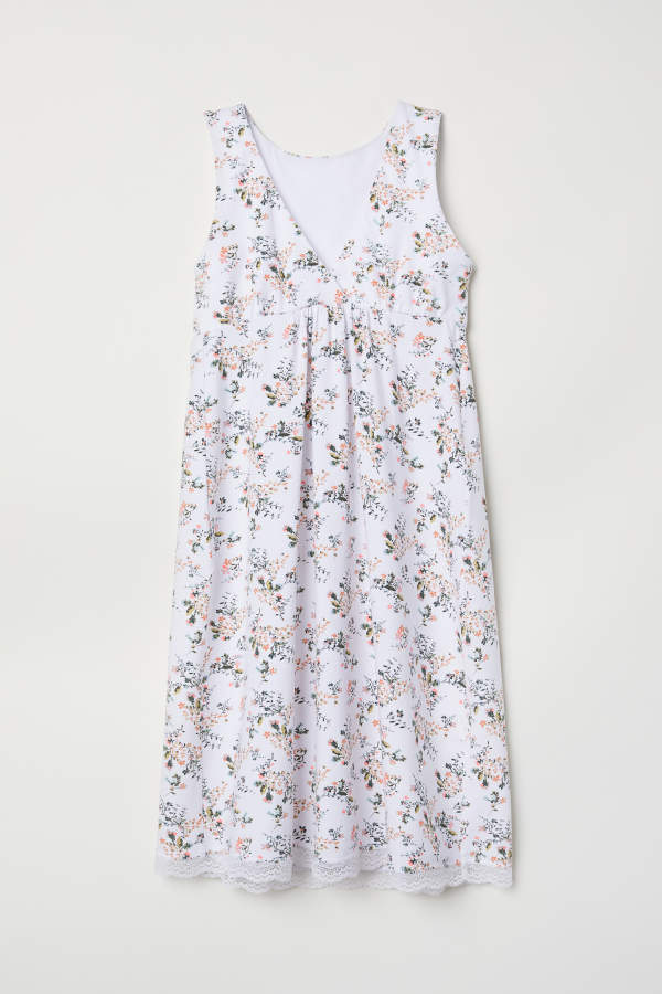 4eded820e570a H&M MAMA Nursing Nightgown - White/floral - Women   Clothes in 2018 ...