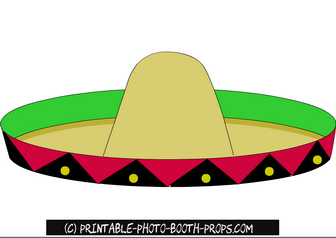 Free Printable Sombrero Prop For Mexican Photo Booth Cinco De Mayo Photo Booth Props Photo Booth Props Free Props Free