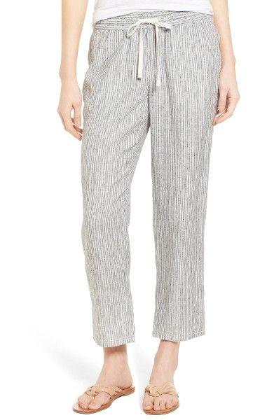 9c7f3c6d7c Main Image - Caslon® Linen Crop Pants (Regular   Petite)