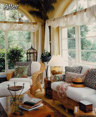 African tint sunroom living room future house for African american interior decorators