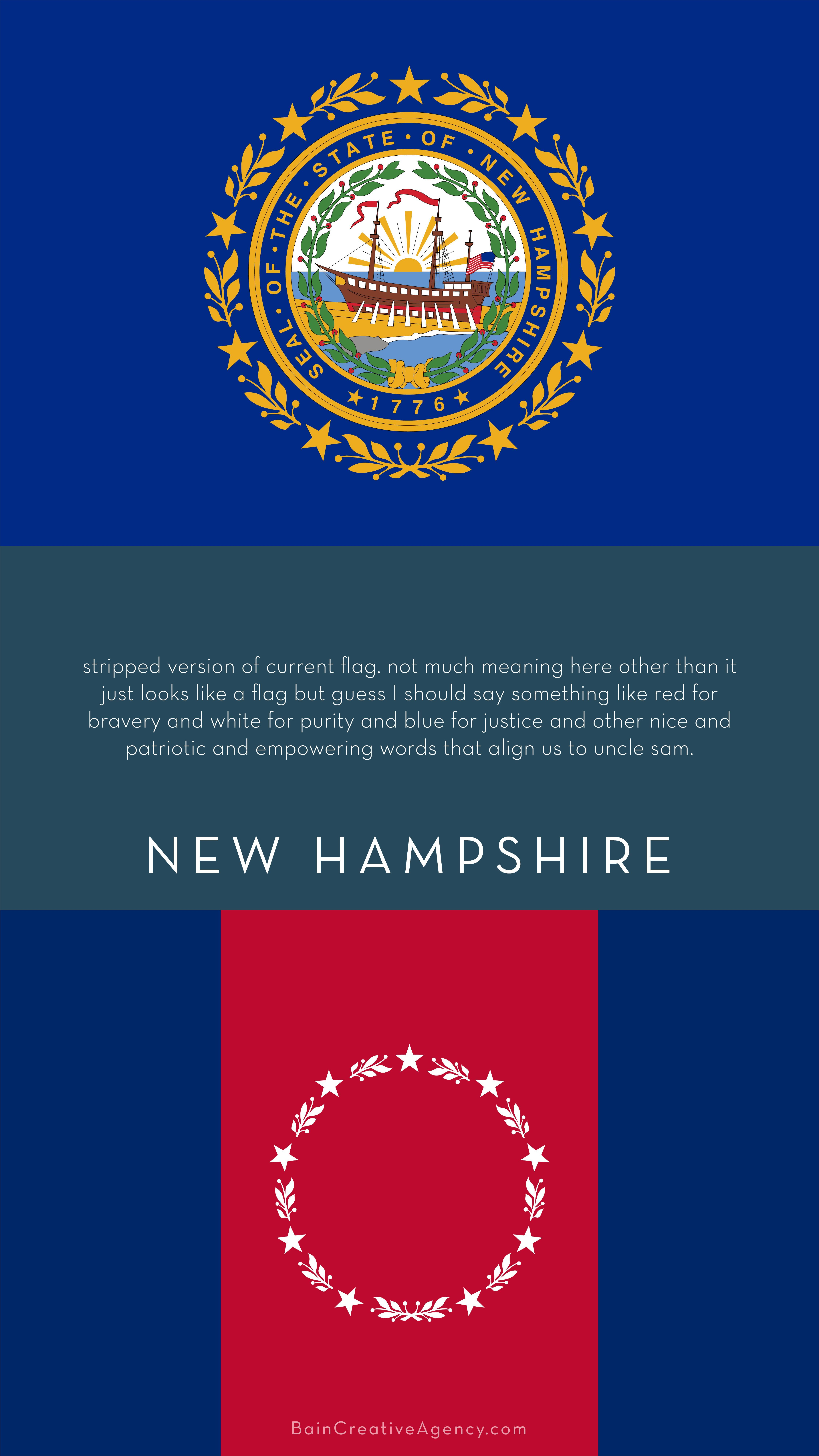 New Hampshire Flag Redesign In 2020 Empowering Words Bravery State Flags