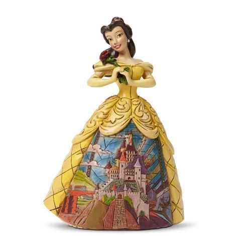 Figurine Belle en Robe de Bal - Château - Disney Traditions Jim Shore