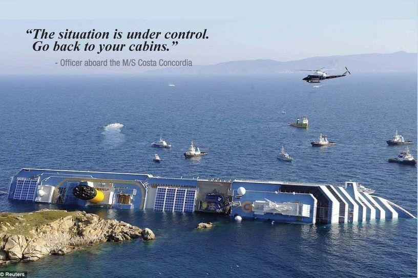 Costa Concordia Sinking Map Cruise Ship Cruise Concordia