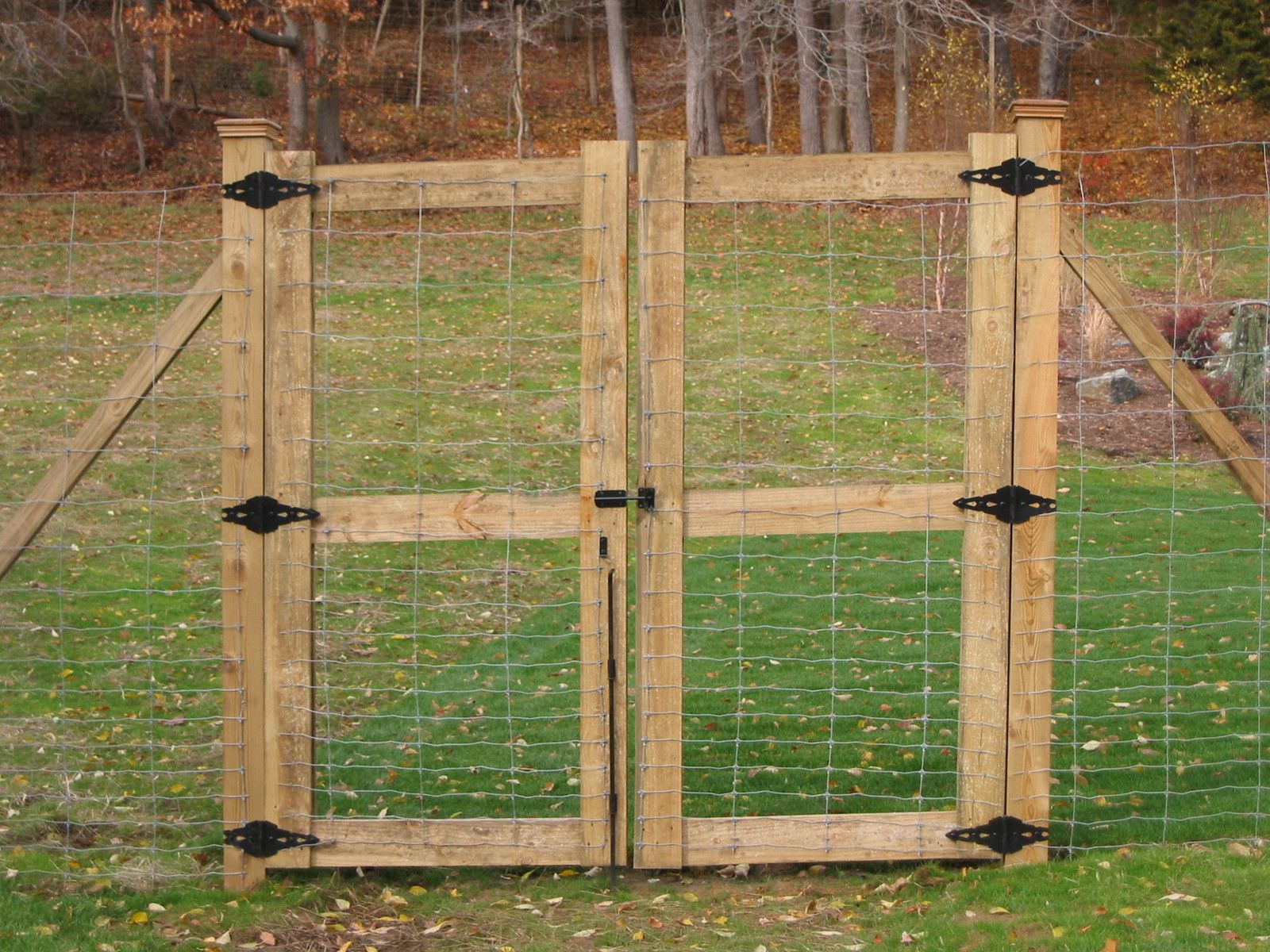 double wood gate yard and garden pinterest deer fence