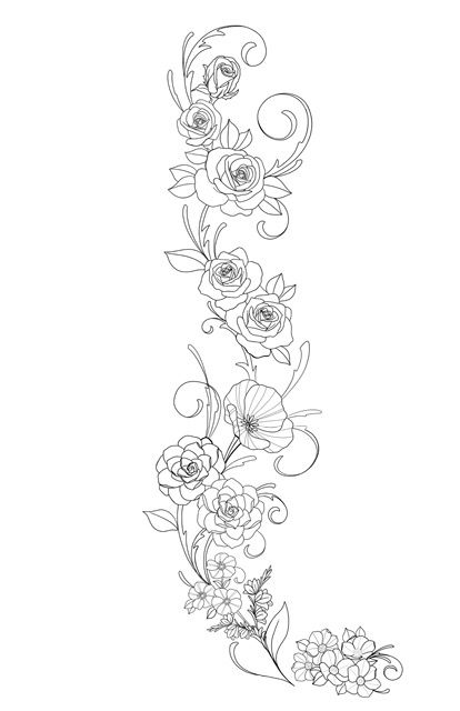 Places I Ve Lived Flowers Leg Tattoo Tattoos Flower