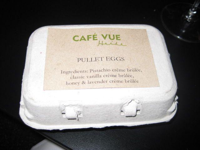Dessert presentation Cafe Vue, Bastille Day 2010