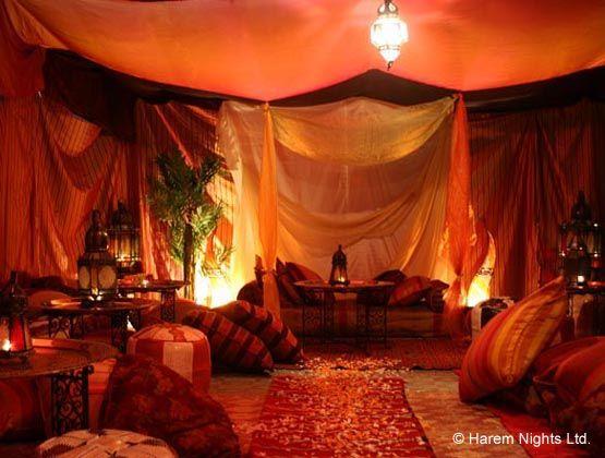 Beautiful arabian tent hookah lounge come to lux lounge for Arabian night bedroom ideas