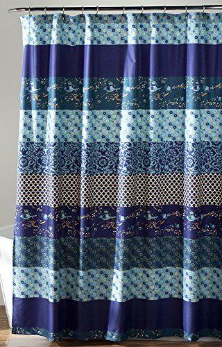 "Lush Decor Royal Empire Shower Curtain, Peacock, 72 x 72""..."