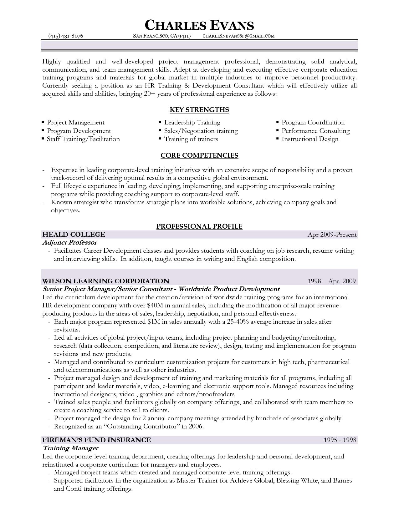 Training Manager Resume Http Www Resumecareer Info Training Manager Resume 8
