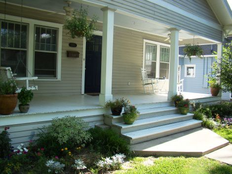 Front Porch With No Railing For The Home Pinterest Porch