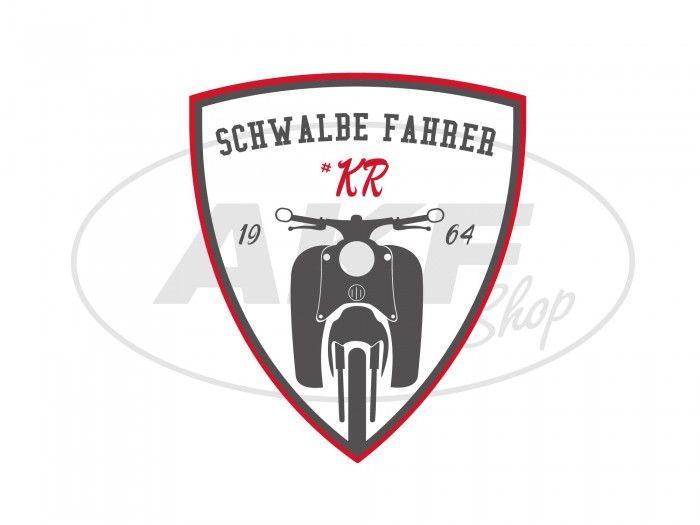 Aufkleber Schwalbe Fahrer Kr Rotweißschwarz Wappen