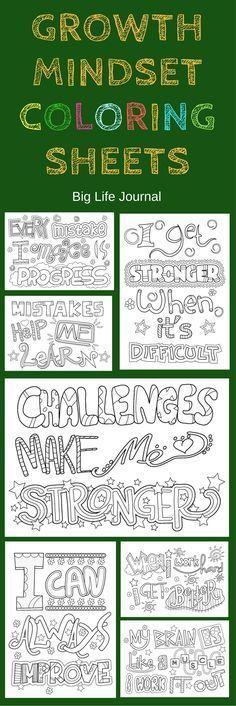 Free Growth Mindset Coloring Sheets #coloringsheets