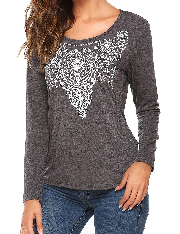 04e9f194 Women's Clothing, Tops & Tees, Tunics, Women's Summer Sleeveless/Long  Sleeve Street Printed T Shirt Tank Tops Graphic Tees S-XXL - 009_gray -  C8184SYHH6D ...