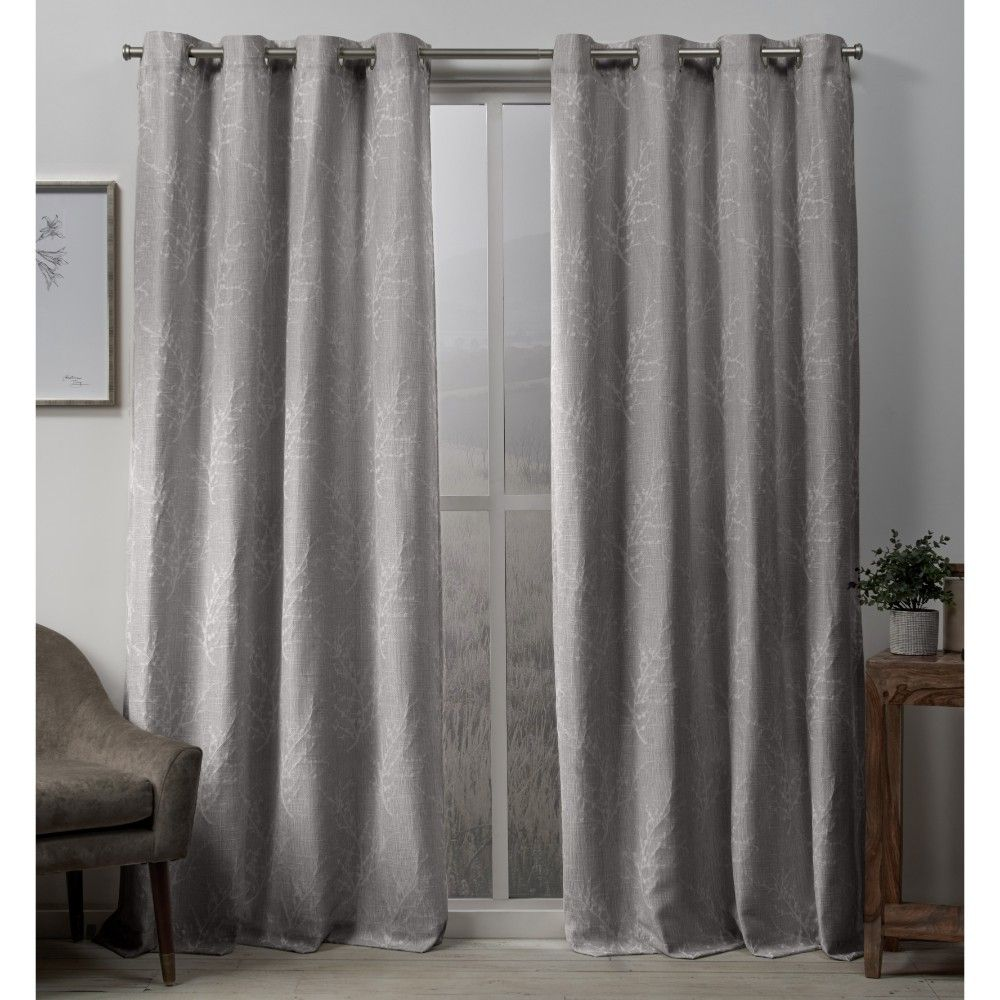 Outside window treatment ideas  curtain panels exclusive home light grey branch light gray in